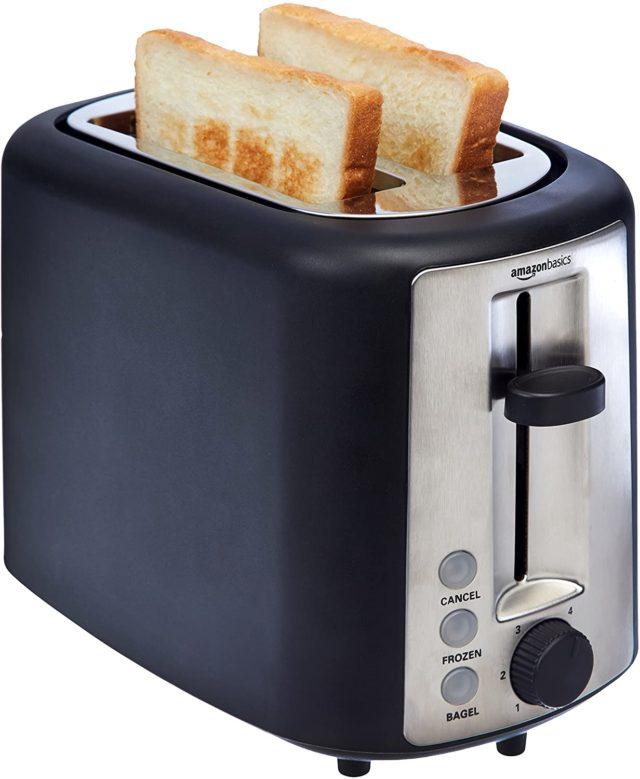 AmazonBasics 2 Slice, Extra-Wide Slot Toaster
