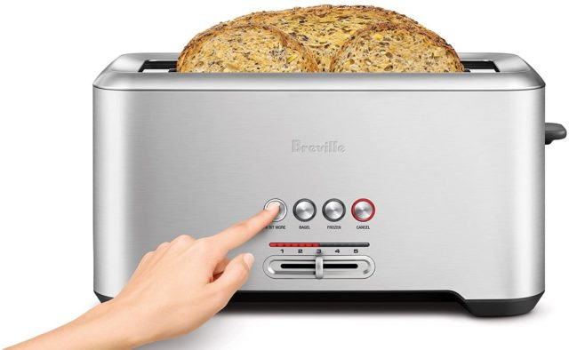Breville BTA730XL The Bit More 4-Slice Toaster, Stainless Steel