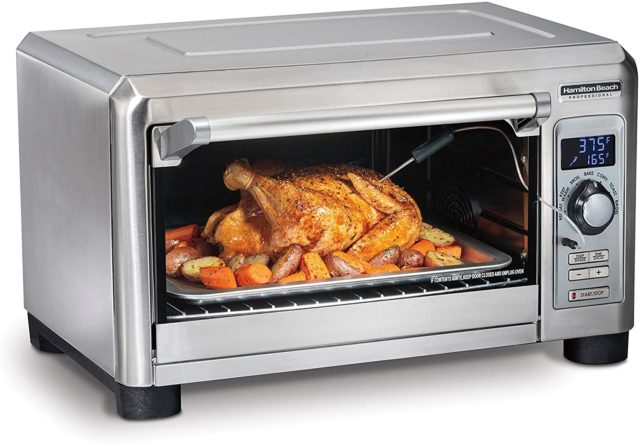 Hamilton Beach Professional Digital Convection Countertop Toaster Oven, Large 6-Slice